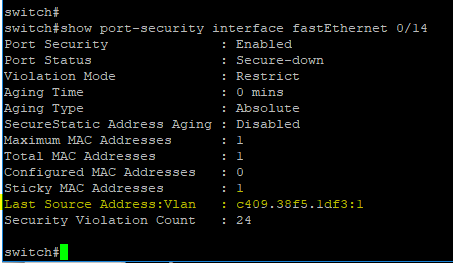 Cisco Switch Port Security and Configuration simple guide