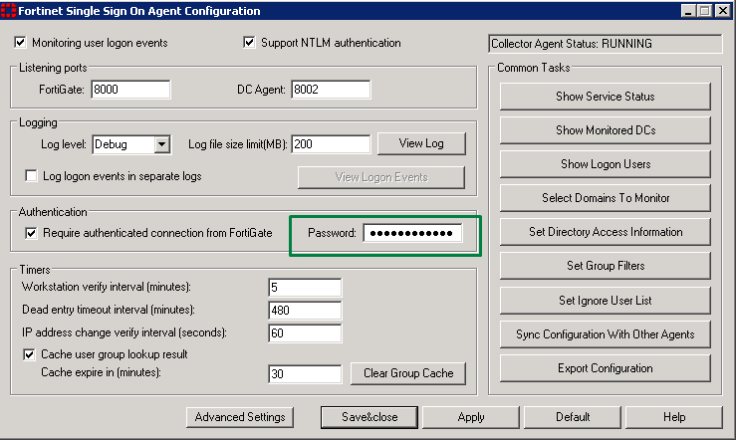 Any production impact if config or integrate single FSSO agent with